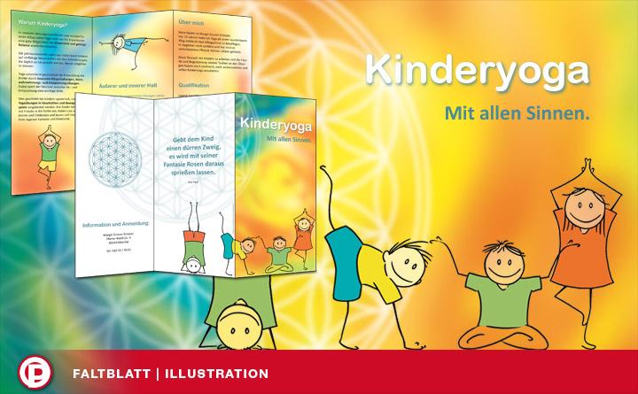 Faltblatt | Illustration | Kinderyoga