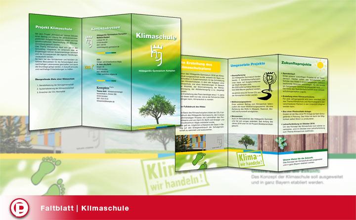 Faltblatt | Klimaschule