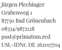 Jürgen Plechinger, Daten, Impressum